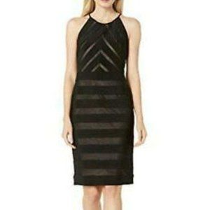 Adrianna Papell Mitered Banded Jersey Dress Size 2